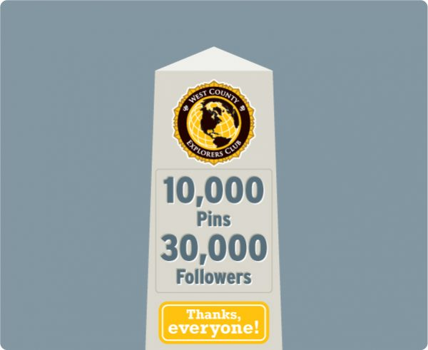 WCXC Pinterest: 10,000 Pins, 30,000 Followers