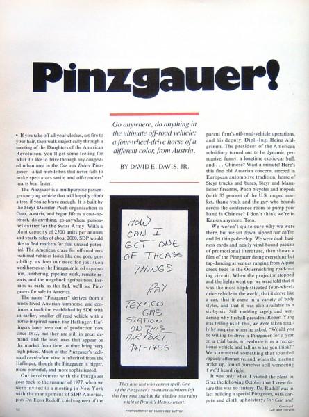 1978 Pnizgauer article, via WCXC